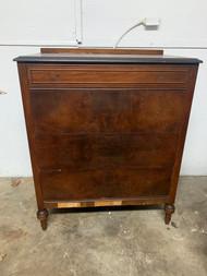 Walnut 4 drawer tall dresser