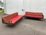 Mid century modern vinyl daybed sectional