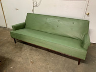 Vintage Mcm Naugahyde avocado sofa
