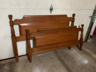 Maple full size paneled bed