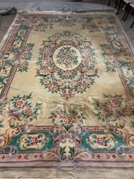 """9'6"""" wide x 14' long wool rug"""