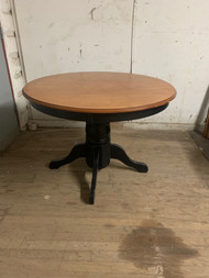 "42"" round maple pedestal table"