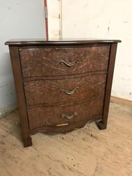 Embossed front 3 drawer dresser