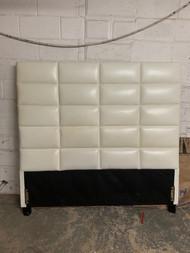 White leather like headboard