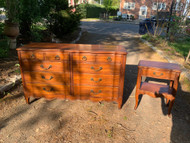 French cherry dresser and nightstand