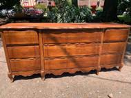 Bassett french provincial cherry 9 drawer dresser