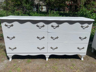 5 foot Long French 6 drawer dresser