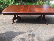 Double pedestal Cherry dining room table