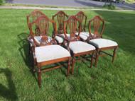 6 mahogany shield back dining chairs