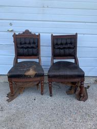 antique east lake chairs