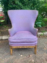 Vintage purple wing back chair