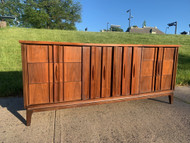 Walnut & rosewood 9 drawer dresser