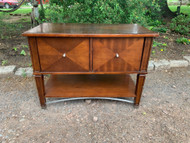 Cherry media stand/file cabinet