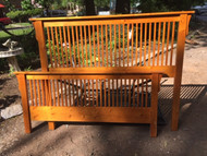 Pine queen mission bed