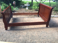 queen cherry sleigh bed with rails
