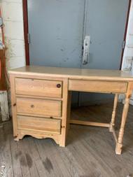 clear pine desk