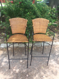 crate and barrel Pair bar stools