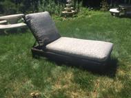 Hampton bay faux wicker lounge chair with cushion
