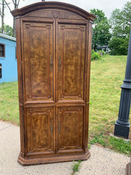 Walnut Armoire with burl walnut inlays