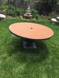 "60"" Pedestal patio table"