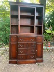 Mahogany secretary bookcase