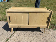 Mid Century Modern Blonde record cabinet