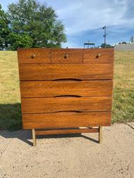 mid-century modern walnut 7 drawer dresser