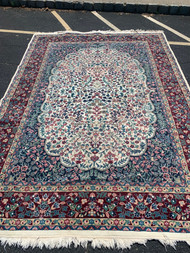 Floral wine 7ft 8in x 10ft 6in carpet