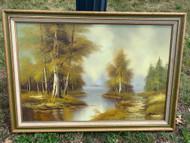 vintage nature Painting 41x29