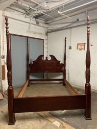 Queen 4 post cherry bed