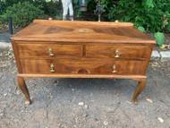 Vintage French 3 drawer walnut dresser