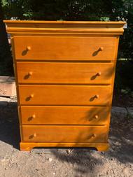 Light Maple 5 drawer dresser