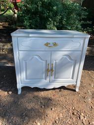 Gloss white French server/ dresser