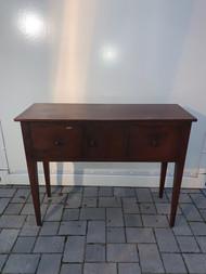 antiqued finished mahogany server