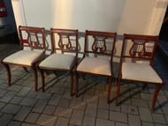 4 harp mahogany chairs