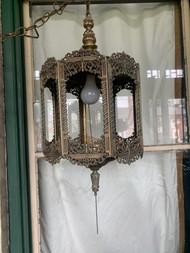 vintage Gothic brass chandelier