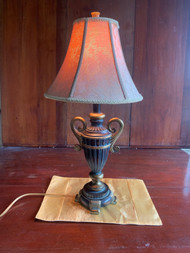 bronze finish urn table lamp