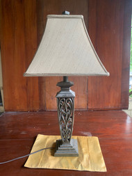 vintage iron lamp with shade