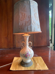 vintage Victorian glass lamp