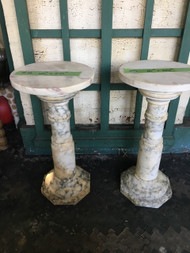 "pair of marble pedestals 10"" x 20"""