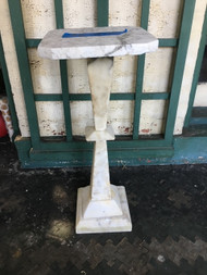 "10"" x 25"" square top marble pedestal"