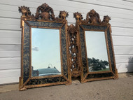 Vintage gold framed french double mirror