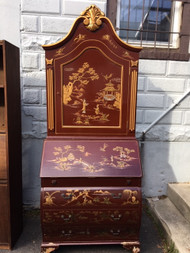 Asian carved secretary