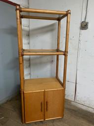 bamboo style shelving unit