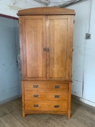 Arts crafts mission armoire
