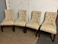4 tufted parsons chairs