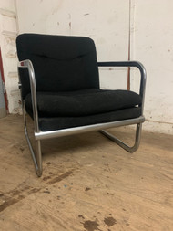 mid century modern black chrome chair