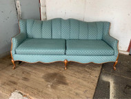 Vintage teal French sofa
