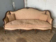 Pink antique french sofa