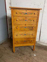 Stenciled 5 drawer dresser